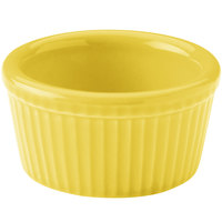 Hall China 30834320 Sunflower 2.75 oz. Colorations Fluted Ramekin - 36/Case