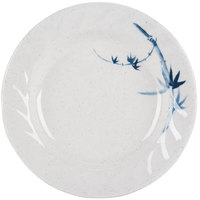 Blue Bamboo 7 inch Round Melamine Curved Rim Plate - 12/Pack