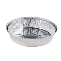 Durable Packaging 270-25-L200 7 inch Round Foil Take-Out Pan with Board Lid - 200 / Case