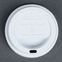 Dart Solo TL31R2-0007 10 oz. White Plastic Travel Lid  - 100 / Pack
