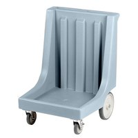 Cambro CD2020HB Slate Blue Camdolly Dish Rack / Glass Rack Dolly with 10 inch Rear Wheels - 350 lb.
