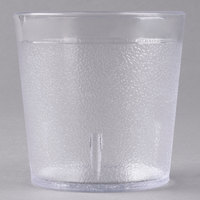 Carlisle 552907 9 oz. Clear Old Fashioned Pebbled Plastic Tumbler - 72/Case