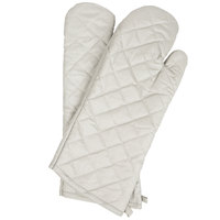 Choice 17 inch Silicone Cloth Oven / Freezer Mitts - 2/Pack