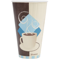 Dart Solo IC20-J7534 Duo Shield 20 oz. Poly Paper Hot Cup - 350 / Case