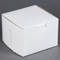 5 1/2 inch x 5 1/2 inch x 4 inch White Cake / Bakery Box - 10 / Bundle