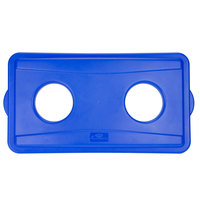 Continental 7316BL Wall Hugger Blue Recycle Lid with Holes