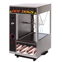 Star 174SBA Broil-O-Dog Hot Dog Broiler with Bun Warmer - Spike Wheel