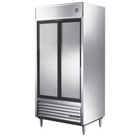 True TSD-33 40 inch Two Section Solid Sliding Door Reach in Refrigerator - 33 Cu. Ft.