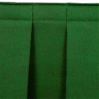 National Public Seating SB8-96 Green Box Stage Skirt for 8 inch Stage - 96 inch Long