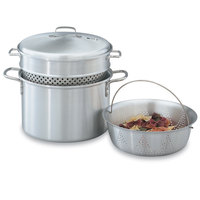 Vollrath 68126 Wear Ever 8 Qt. Pasta Cooker / Vegetable Steamer Set
