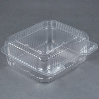 Durable Packaging PXT-895 Duralock Tall 8 inch x 8 inch x 3 inch One-Compartment Clear Hinged Plastic Container - 250 / Case