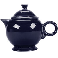 Homer Laughlin 496105 Fiesta Cobalt Blue 1.38 Qt. Covered Teapot - 4 Sets / Case