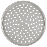 American Metalcraft PT2007 7 inch Perforated Tin-Plated Steel Pizza Pan