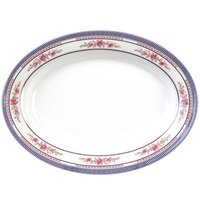 Rose 16 inch x 11 5/8 inch Oval Melamine Platter - 12 / Pack
