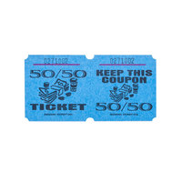 Blue 50/50 Marquee Raffle Tickets - 1000/Roll