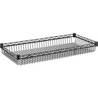 Metro DD3448A 14 inch x 36 inch Super Erecta Black Wire Basket Shelf - 400 lb. Capacity