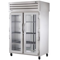 True STR2HPT-2G-2S Specification Series Two Section Pass-Through Heated Holding Cabinet - 56 Cu. Ft.