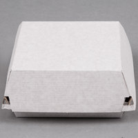 LBP 55100 6 1/2 inch x 6 1/8 inch x 3 inch Deluxe Corrugated Clamshell Sandwich Take-Out Box   - 200/Case