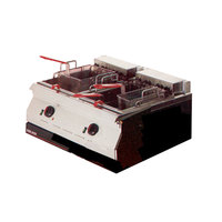 Garland ED-30FT Designer Series 34 lb. Dual Tank Electric Countertop Deep Fryer - 240V, 1 Phase, 10.6 kW