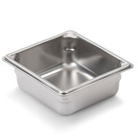 Vollrath Super Pan V 30622 1/6 Size Anti-Jam Stainless Steel Steam Table / Hotel Pan - 2 1/2 inch Deep