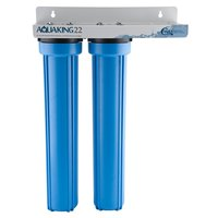 C Pure AQUAKING22 20 inch Dual Cartridge Floor Model Steam Equipment Water Filtration System - 25 Micron Rating and 3 GPM