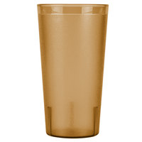 Cambro 3200P2153 Colorware 32 oz. Amber Plastic Tumbler - 24 / Case