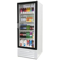 Beverage Air LV12-1-W-LED White LumaVue 24 inch Refrigerated Glass Door Merchandiser with LED Lighting - 12 Cu. Ft.