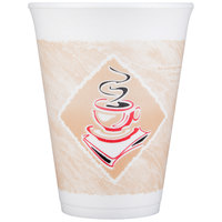 Dart 12X12G 12 oz. Espresso Customizable Foam Cup - 1000/Case