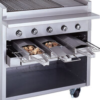 Bakers Pride 21884847-36GS Glo-Stone Charbroiler Stainless Steel Smoke Box