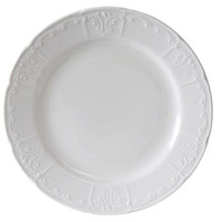 Tuxton CHA-111 Chicago 11 1/8 inch Bright White China Plate - 12/Case