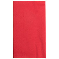 Hoffmaster 180511 Red 15 inch x 17 inch Paper Dinner Napkins 2-Ply - 1000 / Case
