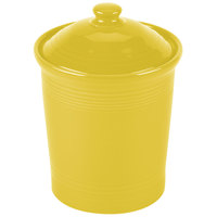 Homer Laughlin 573320 Fiesta Sunflower Large 3 Qt. Canister with Cover - 2 / Case