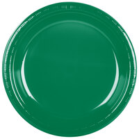 Creative Converting 28112031 10 inch Emerald Green Plastic Plate - 20 / Pack