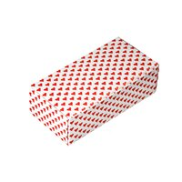 5 1/2 inch x 2 3/4 inch x 1 3/4 inch 1-Piece 1/2 lb. Valentine's Day Heart Candy Box - 250 / Case