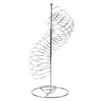Tablecraft FSP1507 Chrome Spiral Fruit Basket - 9 inch x 18 1/2 inch