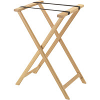 Aarco Natural Folding Wood Tray Stand - 31 inch