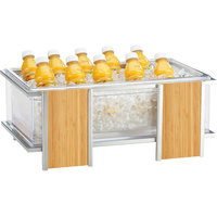 Cal-Mil 1472 Eco Modern Ice Housing with Clear Pan - 21 1/4 inch x 14 1/4 inch x 9 inch