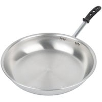 Vollrath 67914 Wear-Ever 14 inch Natural Finish Aluminum Fry Pan with TriVent Silicone Handle