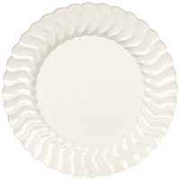Fineline Flairware 207-BO 7 1/2 inch Bone Plastic Plate - 18 / Pack