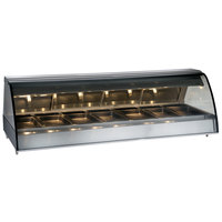 Alto-Shaam TY2-96/PR SS Stainless Steel Countertop Heated Display Case with Curved Glass - Right Self Service 96 inch