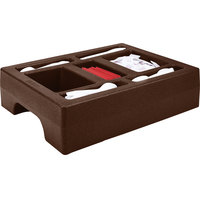 Cambro LCDCH10131 Dark Brown Condiment Holder for Cambro 1000LCD / UC1000