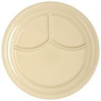 Carlisle 4351425 Dallas Ware 9 3/4 inch Tan 3-Compartment Melamine Plate - 36/Case