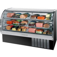Beverage Air CDR6/1-B-20 Black Curved Glass Refrigerated Bakery Display Case 73 inch - 27.6 Cu. Ft.