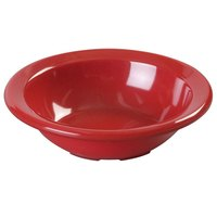 Carlisle KL80505 Kingline 4.75 oz. Red Rimmed Fruit Bowl - 48/Case
