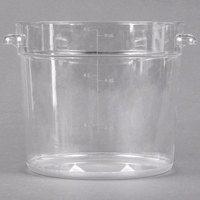 Carlisle 1076507 6 Qt. Clear Round StorPlus Container