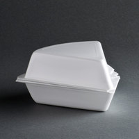 Genpak 21800 6 inch x 5 1/2 inch x 3 inch Foam Pie Wedge Container - 250/Case