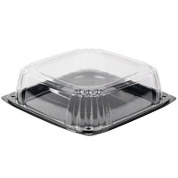 Sabert C9614 UltraStack 14 inch Square Disposable Deli Platter / Catering Tray with Lid - 25/Case
