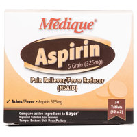 Medique 11664 Aspirin Tablets - 24/Box