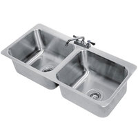 Advance Tabco DI-2-2012 2 Compartment Drop In Sink - 20 inch x 16 inch x 12 inch Bowls
