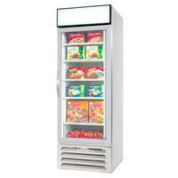 Beverage Air MMF27-1-W-LED White Marketmax Glass Door Merchandising Freezer with LED Lighting and Swing Door - 27 Cu. Ft.